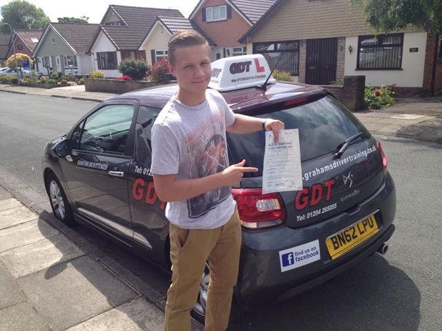 Image of Tom Kuta who passed his driving test in bury