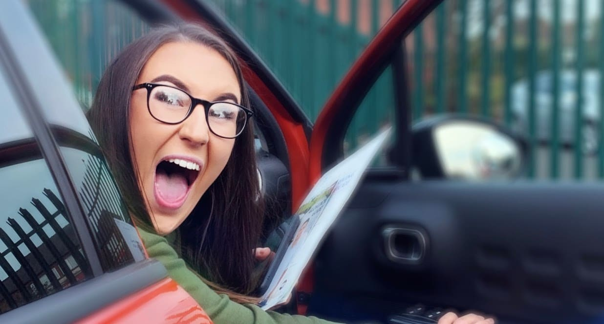 Sophie passed driving test in Bury