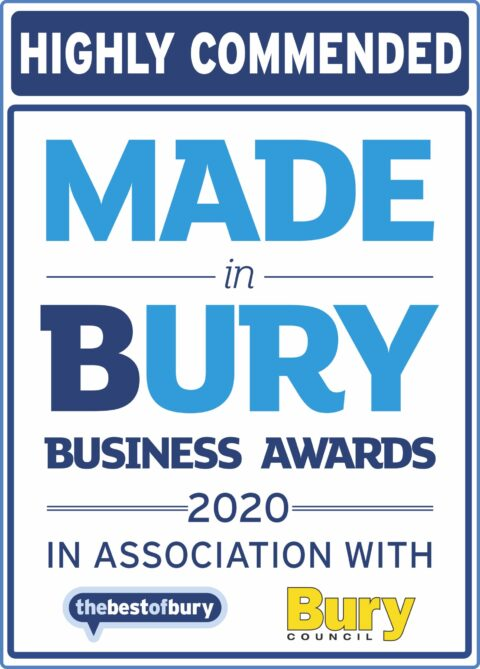 Highly commended in 2020 Made in Bury Business Awards